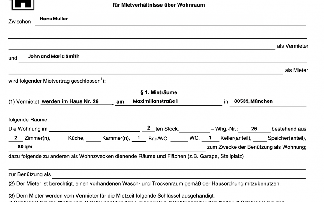 My German rent contract: rent increase clauses and explanation